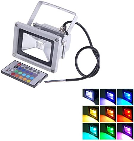 Gosear 10W Impermeable LED RGB luz de Inundación, proyector de ...