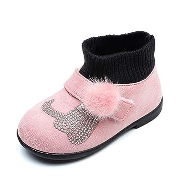 Stillshine Zapatos de Algodón de Bebé Felpa Cálida para Niños Zapatos Antideslizantes para Niños Niña de