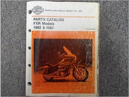1982 1983 Harley Davidson FXR Parts Catalog Manual FACTORY OEM BOOK