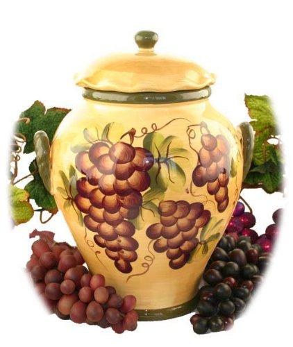 Amazon.com: Tuscany Grape Cookie Jar Wine Decor: Tuscany ...