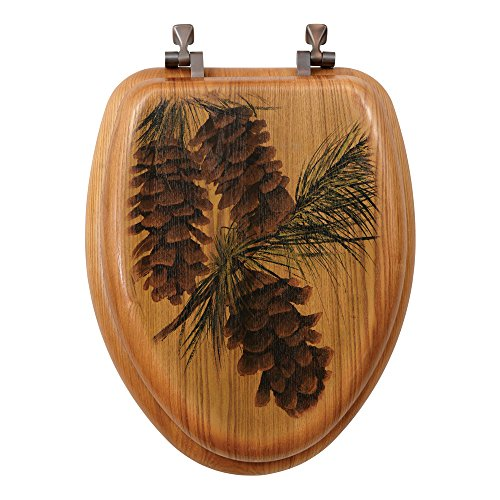 - Pinecone Toilet Seat - Elongated - Wilderness Bathroom Decor
