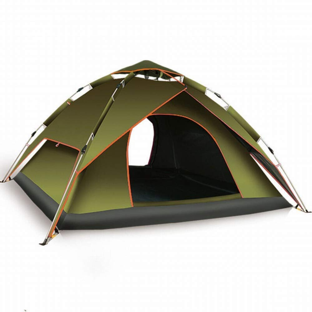 C.N. Aventure Tente extérieure Automatique Rainproof extérieure Double Tente de Camping construite Libre,Armée Verte,1