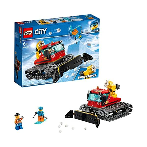 LEGO City Great Vehicles Snow Groomer Plough Set, Toy Tractor for Kids