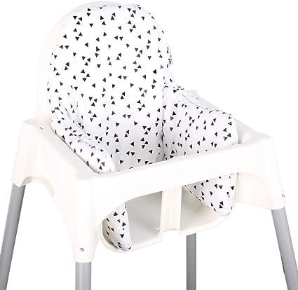 Coussin d'assise pour Ikea Antilop – Triangles noirs: Amazon