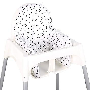 Asiento Cojín revestimiento para Ikea ANTILOP - Negra ...