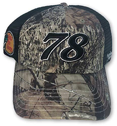 Checkered Flag Martin Truex Jr. #78 Men's Adjustable Hat Camo
