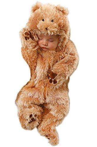 Princess Paradise Unisex Baby Snuggle Bear, Beige, 3/6 Months]()
