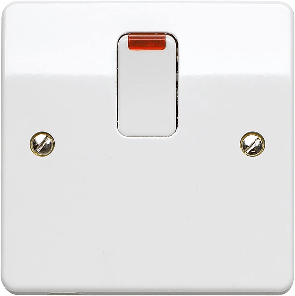MK K5423WHI 20 amp Double-Pole Switch with Neon