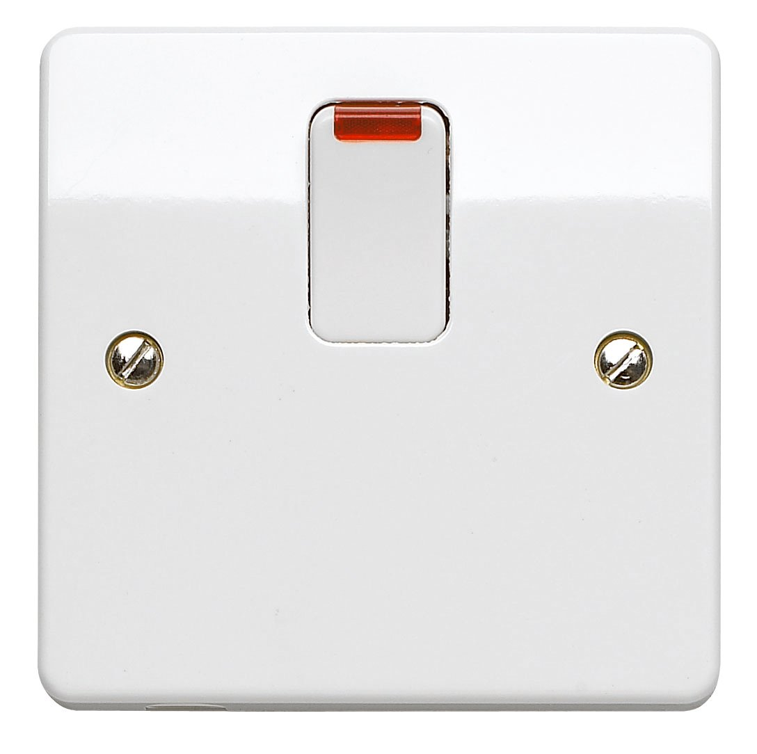 Mk K5105whi 32a Double Pole Switch And Neon Business Wiring Regulations Cooker K5423whi 20 Amp With