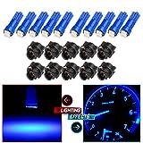 1996 ford f250 door panel - CCIYU 10pcs T5 74 85 58 37 27 17 Super Blue 2-2835-SMD Instrument Panel Light Bulbs W/ Twist Socket