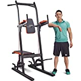 Dipping Station Adjustable Power Tower, Strength Training Dip Stands, Fitness Equipment Pull Push Up Bar Heavy Duty Steel Fitness Exercise Workout Exercise at Home Gym HARISON 408