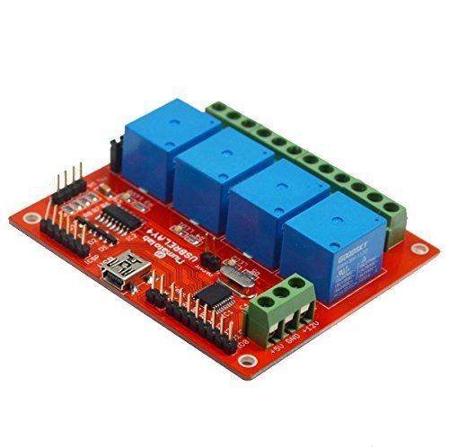 Numato Lab 4 Channel USB Relay Module (Board Serial Relay)