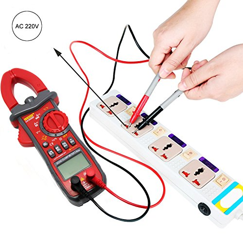Digital Multimeter, UYIGAO DC Current Clamp Meter, AC Current AC DC Voltage Resistance Capacitance Temperature Frequency Duty Ratio Inrush Current NCV Diode Tester with Clam Flashlight