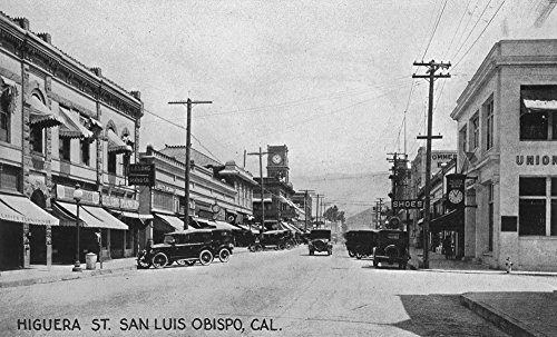 San Luis Obispo, California - Higuera Street View (24x36 SIGNED Print Master Giclee Print w/ Certificate of Authenticity - Wall Decor Travel Poster)