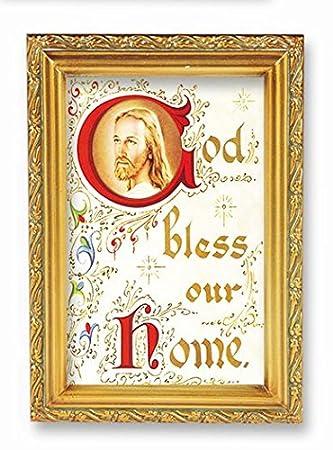 amazon house blessingゴールドフレーム4 5 x 6 5 イタリア