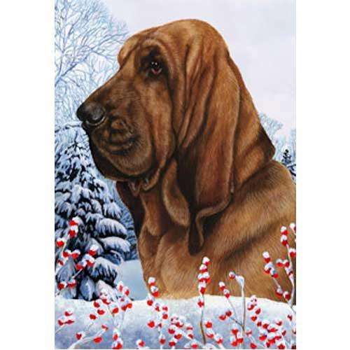 Winter Berries Garden Size Flag Bloodhound