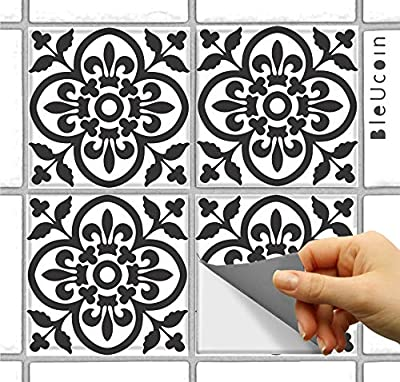 Moroccan Terracotta Matt Tile Stickers for Kitchen and Bathroom Backsplash, Removable Stair Riser Stickers, Peel & Stick Home Decor (Pack of 44)