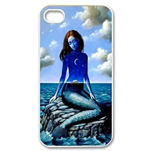 Chaap And High Quality Phone Case For Iphone 4 4S case cover -Mermaid And Ocean Pattern-LiShuangD Store Case 12