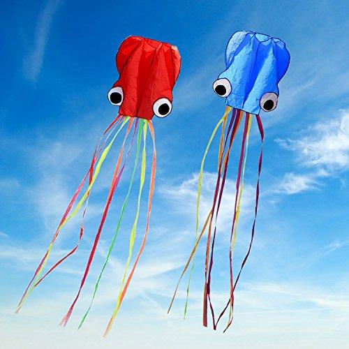 Large Octopus Kite Long Tail Beautiful Easy Flyer Kites Beach Kites Good Toys