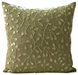 "Designer Ecru Shams, Mother Of Pearls Floral Pillow Sham, 24""x24"" Pillow Sham, Square Cotton Linen Shams, - Vintage Garden"