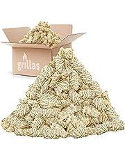 grillas bio-haard aanmaakblokjes 10 kg van houtvezel, gedrenkt in was | kolenstarter | barbecue aanmaakblokjes | was aanmaakblokjes | aanmaakvezel | aanmaakhulp | geen residu