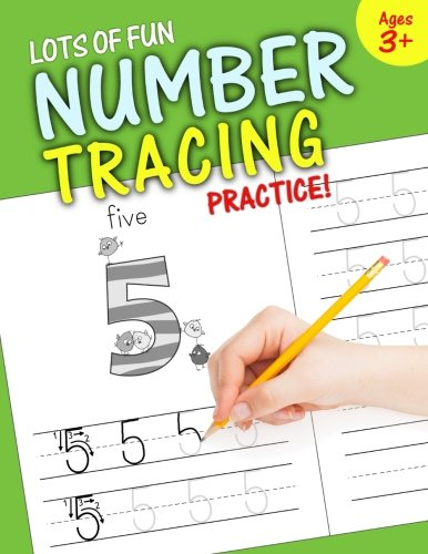 Lots Fun Number Tracing Practice product image