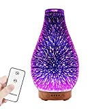 MoKo Essential Oil Diffuser with Remote Control, 3D Glass...