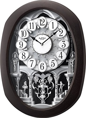 Rhythm Clocks ''Encore Espresso'' Magic Motion Clock by Rhythm Clocks