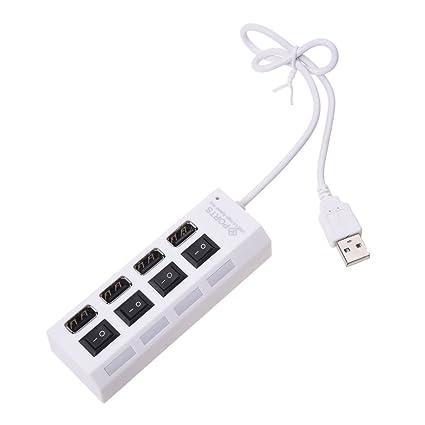 SODIAL(R) 1 x USB Concentrador 4 puertos portatil de la alta calidad 4