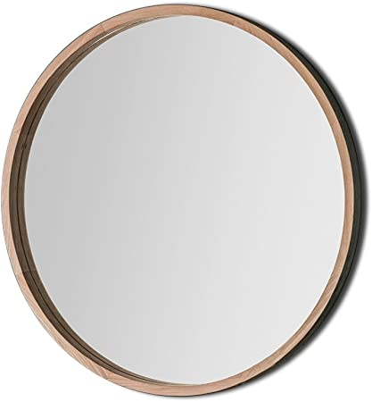 Barcelona Trading Bowman Large Country Classic Style Round Wooden Frame Wall Mirror 39 Diameter Amazon Co Uk Kitchen Home