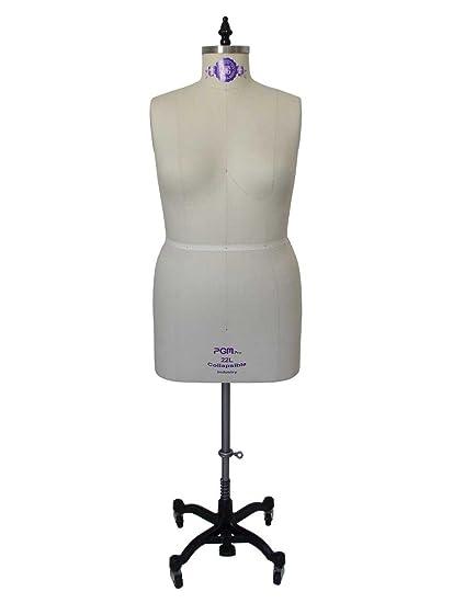 Amazon.com: Professional Dress Form Plus Size Large Woman Mannequin ...