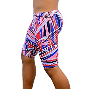 Adoretex Boy's/Men's Printed Pro Athletic Jammer Swimsuit Swim Shorts