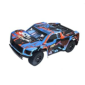 ALEKO 66222 Electric Powered Brushless Motor High Speed Short Course Truck, Blue 1/12 Scale