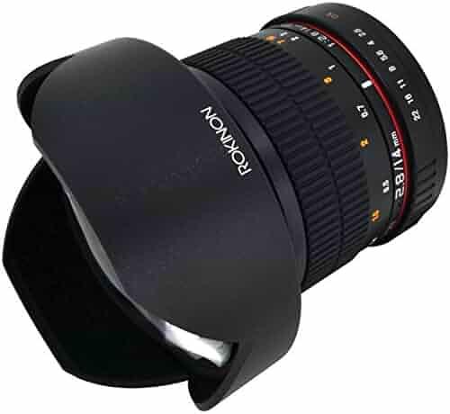 Rokinon FE14M-C 14mm F2.8 Ultra Wide Lens for Canon (Black) - Fixed