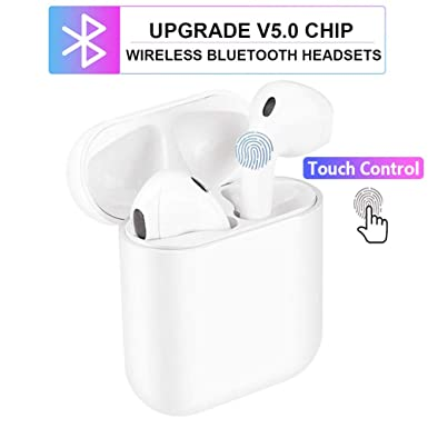 Bluetooth Wireless Earbuds Bluetooth 5.0 Earphone Hi-Fi Sound Bluetooth Headset with Mini Charging Case 24 Hrs Extended Playtime Pop-Up Pairing for iPhone Samsung Apple Airpods Sports Headphones