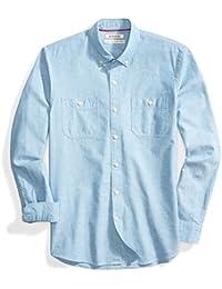 Men's Standard-fit Long-Sleeve Chambray Shirt