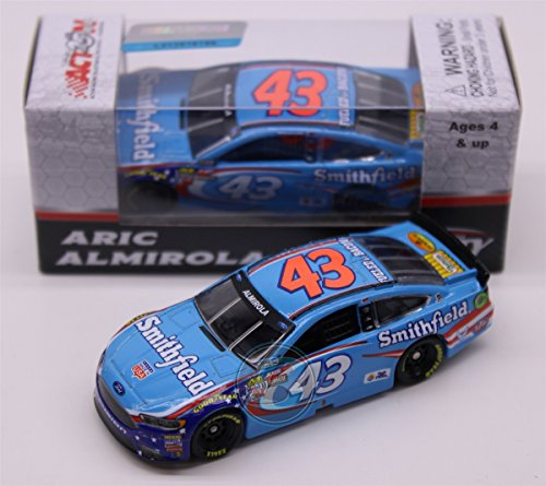 Lionel Racing Aric Almirola # 43 Smithfield 2017 Ford Fusion 1:64 Scale ARC HT Official Diecast of the  NASCAR Cup Series