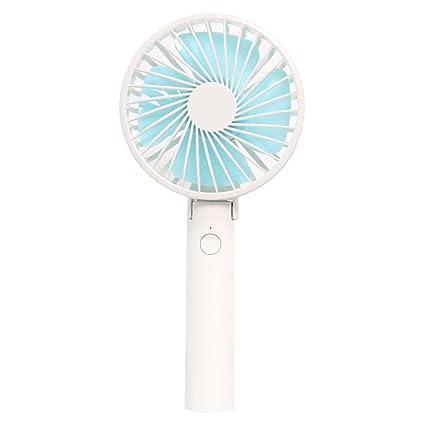 Mini Portable Cooling Fan USB Handheld Fan USB Charging Fan Mini Portable Phone Holder Fan Bamboo Style Desktop Fan Color : Blue