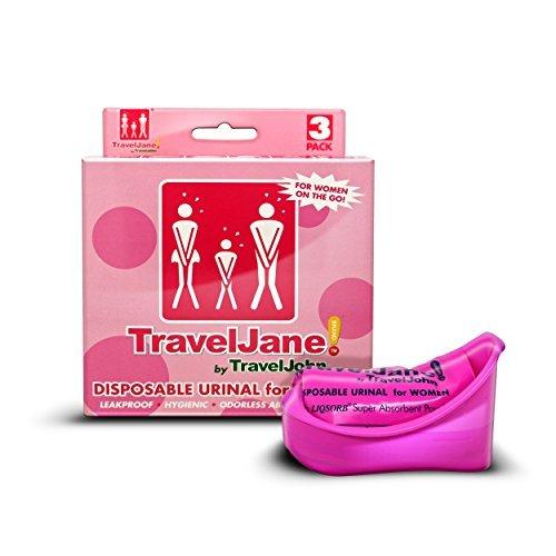 traveljane Einweg-WC 3Ã'Pack für Frauen von TravelJohn by Travel John