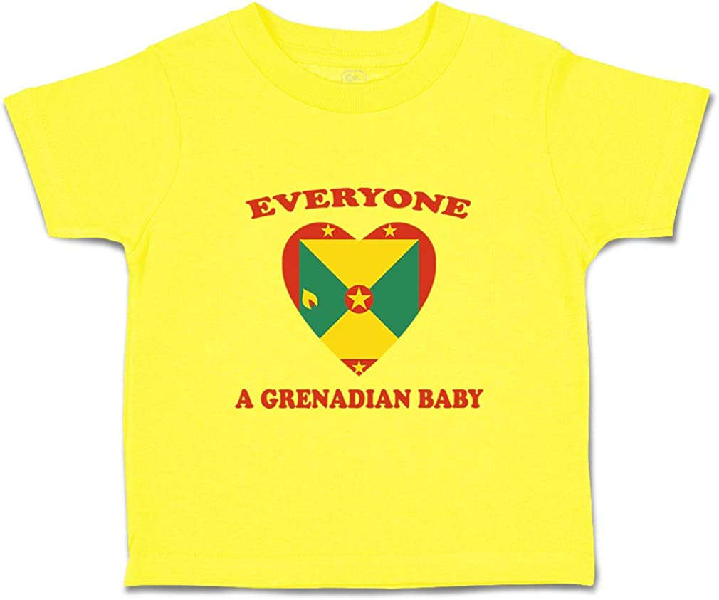 Custom Baby /& Toddler T-Shirt Everyone Loves Grenadian Cotton Boy Girl Clothes
