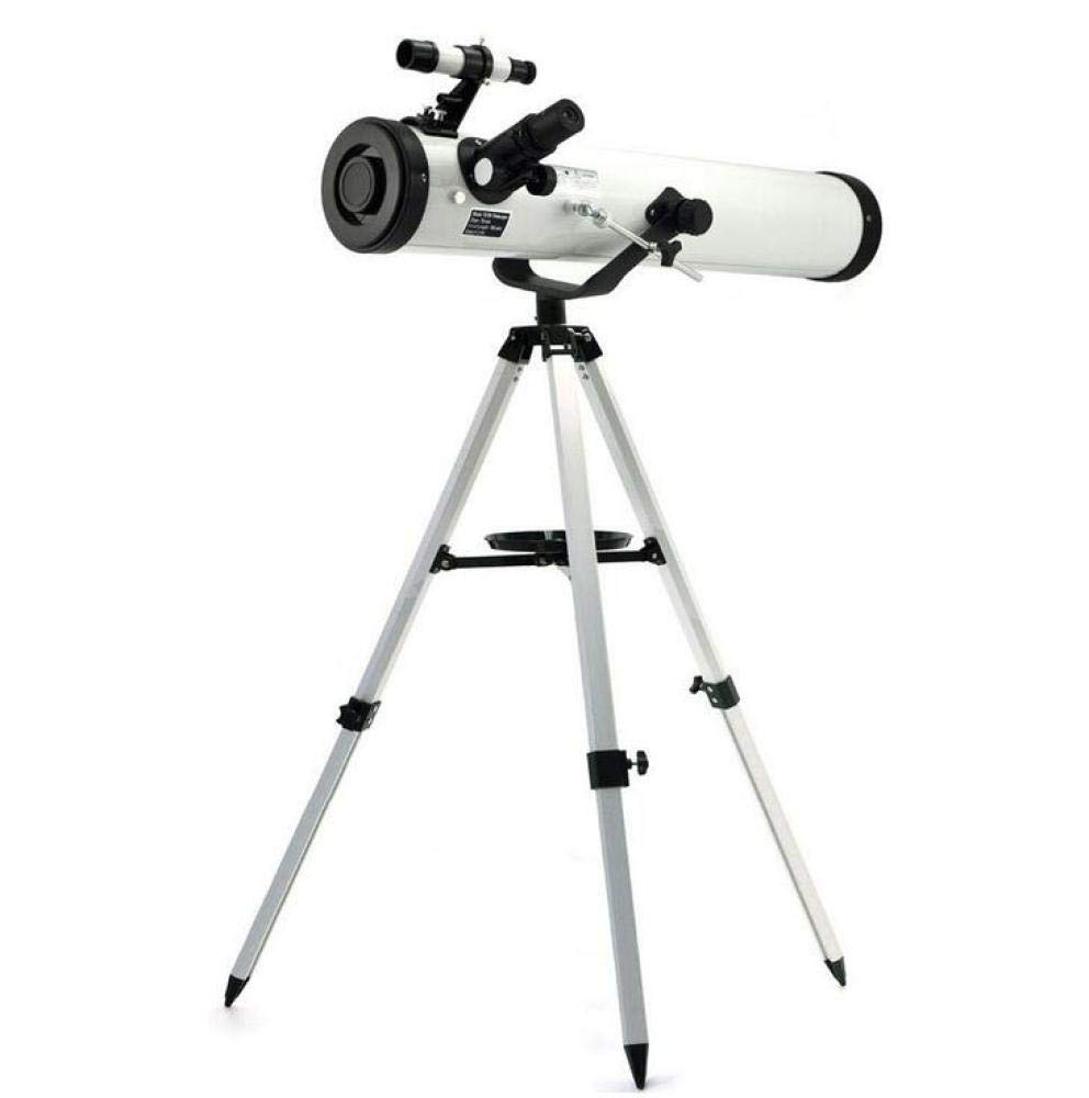 LZY Telescope 3 inch 76-700Mm Reflector Professional Newtonian Astronomical Telescope for Watching the Stars,White,Telescope
