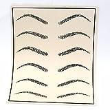 Cosmetic Permanent Makeup Eyebrow Tattoo Practice Skin Supply fake eyebrow tattoo practice skin 10 Pcs K0065