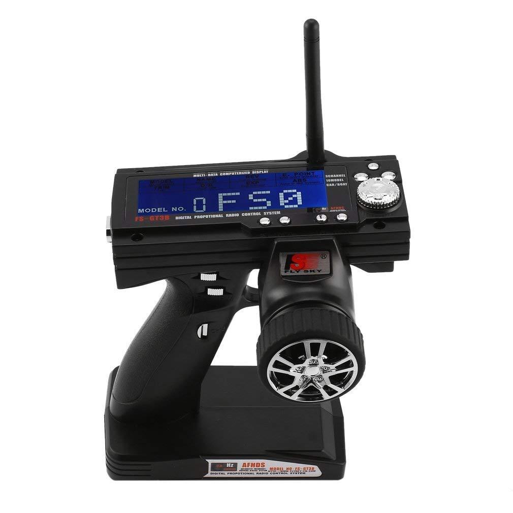 Hemore FS-GT3B 2.4G 3CH RC Boat Control Pistola Transmisor//W TX Receptor Anti-interferencias Accesorios Kit de Suministro