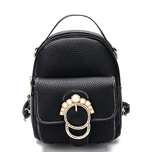 à 7 22cm en PU 17 sac multifonctionnel main cuir de décontracté de sac Sac femmes dos souple à mode OwTTfq