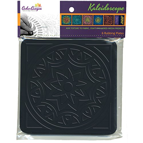 Cedar Canyon Textiles Artist's Paintstiks Rubbing Plates, 7.125 by 7.125-Inch, Kaleidoscope, 6-Pack by Cedar Canyon Textiles