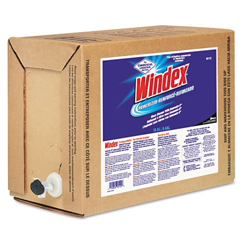 Windex Powerized Formula Glass/Surface Cleaner, 5 Gallon Bag-in-Box Dispenser - Includes one each.