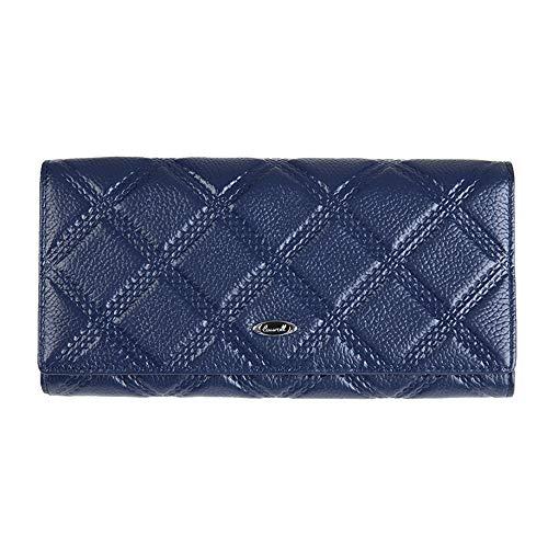Treillis Color Purse Blue Fold Femmes Tri Porte Long Texture Blue Soirée Monnaie HHxqdgzO