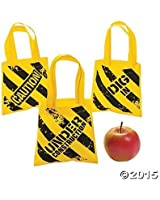 Construction Zone Mini Tote Bags - 12 ct by Party Supplies