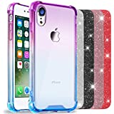 ANOLE Compatible Apple iPhone XR Case, Slim Gradient Soft TPU & Hard Clear Back