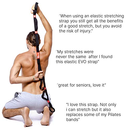 Yoga EVO Stretch Strap With Loops Exercise Stretching Out Leg Stretcher Band For